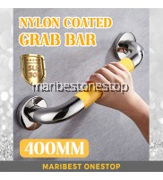 400MM 304 STAINLESS STEEL NYLON COATED GRAB BAR (YELLOW)