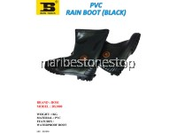 PVC RAIN BOOT (BLACK) SIZE 5/38