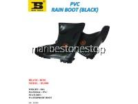 PVC RAIN BOOT (BLACK) SIZE 6/39