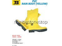 1PC X PVC RAIN BOOT (YELLOW) SIZE 6/39
