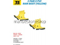 2 PAIR X PVC RAIN BOOT (YELLOW) SIZE 5/38