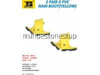 2 PAIR X PVC RAIN BOOT (YELLOW) SIZE 6/39
