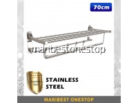 1UNIT X 70CM STAINLESS STEEL FOLDABLE RACK WITH STAINLESS STEEL FIXING SCREW