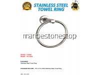 STAINLESS STEEL TOWEL RING WITH STAINLESS STEEL FIXING SCREW