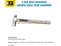 1.5LB WOODEN HANDLE BALL PEIN HAMMER