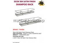 2PCS X 35CM 304 SATIN FINISH SHAMPOO RACK