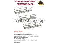 3PCS X 35CM 304 SATIN FINISH SHAMPOO RACK