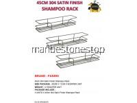 3PCS X 45CM 304 SATIN FINISH SHAMPOO RACK