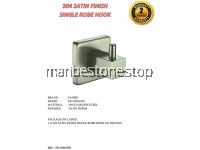 304 SATIN FINISH SINGLE ROBE HOOK FK-304103SS