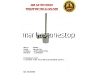 304 SATIN FINISH TOILET BRUSH & HOLDER FK-304105SS