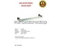 304 SATIN FINISH GLASS SHELF  FK-304213SS