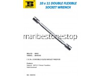 10 x 11 DOUBLE FLEXIBLE SOCKET WRENCH