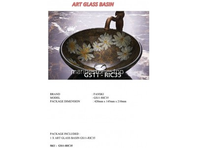 ART GLASS BASIN GS11-RIC35