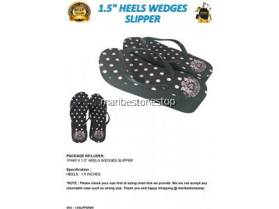 "1.5"" HEELS WEDGES SLIPPER SIZE 36 EUROPE"