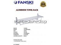 60CM ALUMINIUM BATHROOM TOILET FOLDABLE TOWEL HOOK HANGER RACK SHELF