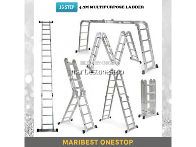 M47 16 STEP ALUMINIUM MULTIPURPOSE LADDER
