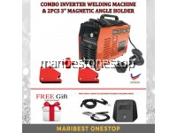 "[Made in Malaysia] COMBO SET INVERTER WELDING MB-205 WITH 3"" MAGNETIC WELDING ANGLE HOLDER"