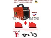 "[Made in Malaysia] COMBO SET INVERTER WELDING MMA 165 WITH 2PCS 3"" MAGNETIC WELDING ANGLE HOLDER"