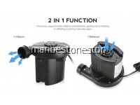 HT-196 PORTABLE AC ELECTRIC AIR INFLATION PUMP INFLATE DEFLATE FOR INFLATION AIR BED MATTRESS SOFA SWIMMING POOL FLOAT