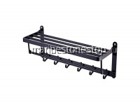 60CM ALUMINIUM WALL MOUNTED FOLDABLE TOWEL RACK BAR