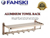 60CM ALUMINIUM ROSEGOLD WALL MOUNTED TOWEL BAR