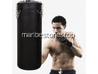 100cm Training MMA Boxing Hook Kick Filled Leather Sandbag