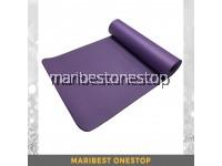 10mm Non Slip NBR Yoga Mat - Purple