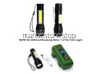 3 Mode USB Rechargeable High Power Mini LED Torchlight OR Solar Led Wall Light