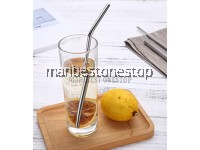 3 - 12Pcs 304 Stainless Steel Straw Set Reusable Straw Metal Straw Drinking Straw Jerami Besi