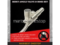 304 STAINLESS STEEL BIDET ANGLE VALVE WITH HOSE SET FOR TOILET BATHROOM