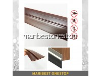 1 METER PVC RUBBER BOTTOM DOOR SEAL - BROWN