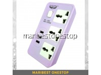 3 USB CHARGING 3 PLUG PIN EXTENSION SOCKET POWER CONVERTER (308)