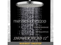 "12"" RAINFALL SHOWER HEAD ROUND BATHROOM"