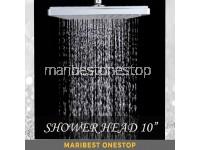 "10"" RAINFALL SHOWER HEAD SQUARE"