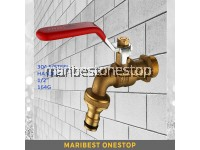 "½"" SOLID BRASS BIBCOCK FAUCET BALL VALVE BIB TAP WALL MOUNTED BALL TAP"