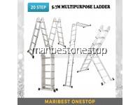 20 STEP MULTIPURPOSE ALUMINIUM LADDER 5.7M