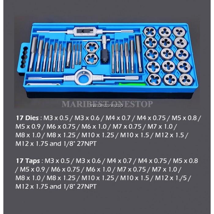 40 Pcs Screw Extractor Tap and Die Set Metal Tap Screw