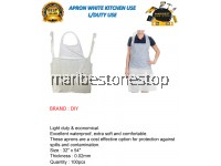 100PCS PROGUARD DISPOSABLE APRON WHITE KITCHEN USE L/DUTY USE