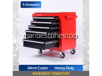Heavy-duty Tool Cart Roller Cabinet with 5 Drawers