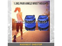 1.5KG X 2 Adjustable Ankle and Wrist Weights Sand Bag Band for Strength Training