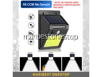 48 COB NO SENSOR Led Waterproof PIR Solar Wall Light Garden Yard Wall Lamp
