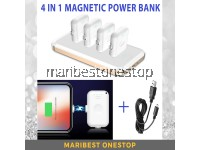 4 in 1 Magnetic Power Bank for Iphone/Android/Type C Mini Power Bank