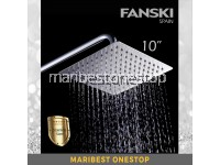"10"" Stainless Steel Shower Head Rainfall Shower Head Ultra Thin Large SQUARE SHOWER HEAD AND ARM"