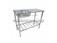 STAINLESS STEEL SINGLE BOWL SINK WITH SINGLE DRAINER KITCHEN SINK BOWL WITH STAND FK9643