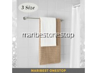 Stainless Steel Wall Mounted Single Rail Pole 60cm 70cm 80cm Towel Rack Toilet Bathroom Hanger Rod Bar