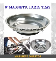 """Stainless Steel 6"""" Magnetic Parts Tray Round Shaped Repair Nuts And Screws Storage Tool"""