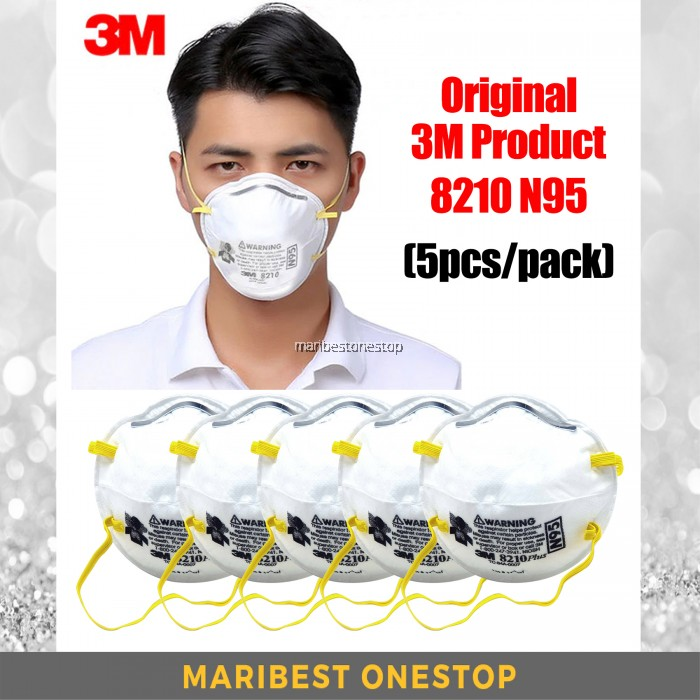 Respirator Particulate N95 8210 Mask 5pcs Dust 3m