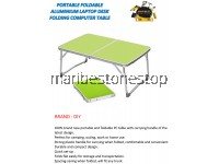 PORTABLE FOLDABLE ALUMINIUM LAPTOP DESK FOLDING COMPUTER TABLE (GREEN)