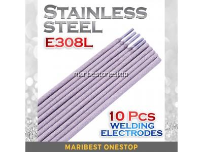 10PCS E308L-16 2.6MM STAINLESS STEEL WELDING ELECTRODE MMA WELDING ARC WELDING SUS 304 WELDING ROD