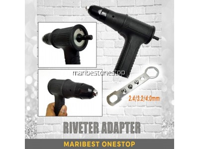 Riveter Adapter Riveting Adapter with 2.4/3.2/4.0mm Riveter Nut Riveter Head for Drills